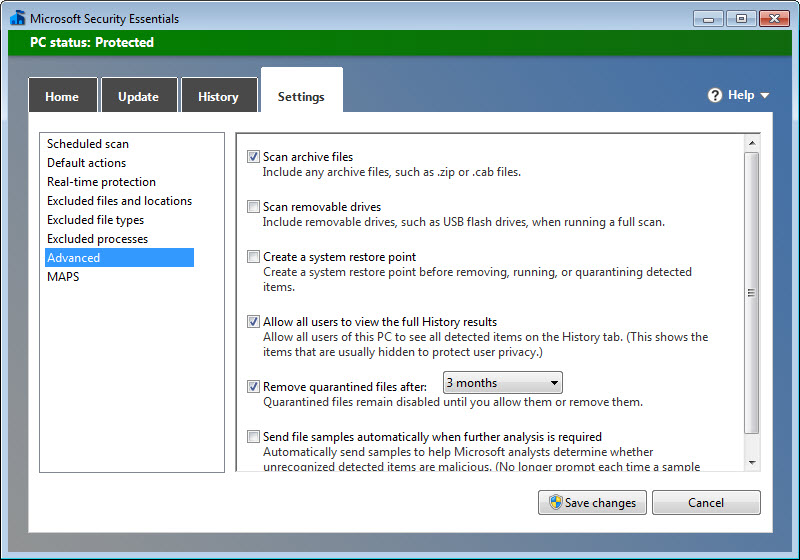 Microsoft Security Essentials Windows