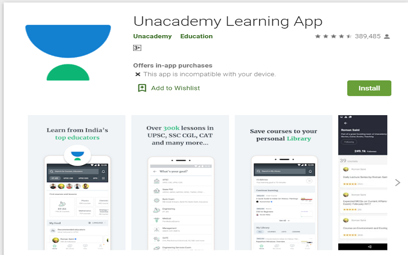 Download Unacademy Learning App