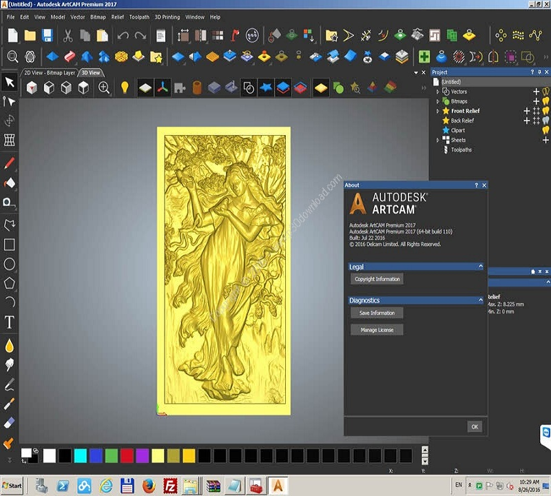 Download Autodesk ArtCAM 2018 Free